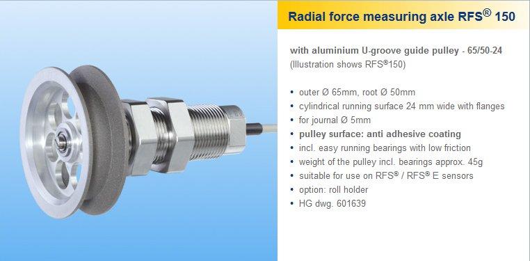 On-Line Tension Sensor - RFS 150 - RFS150 Honigmann