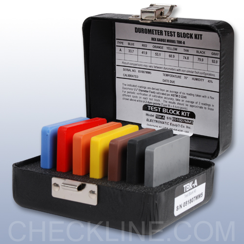 Durometer Test Blocks For Testing Durometer Accuracy