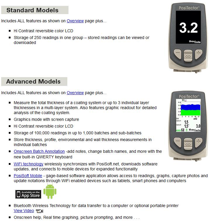 standard vs advanced body