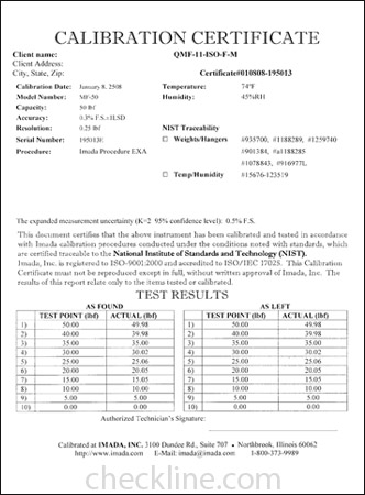 Sample nist traceable calibration certificates nist cal for Pressure gauge calibration certificate template