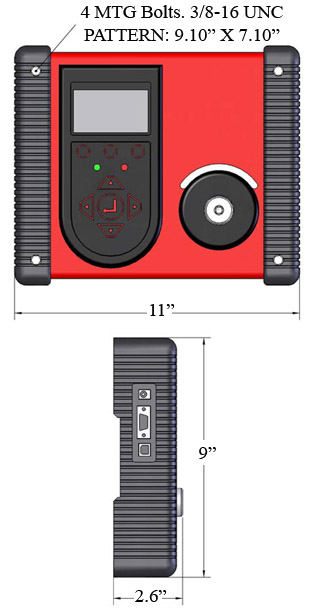 Mountz LTT Torque Analyzer dimensions