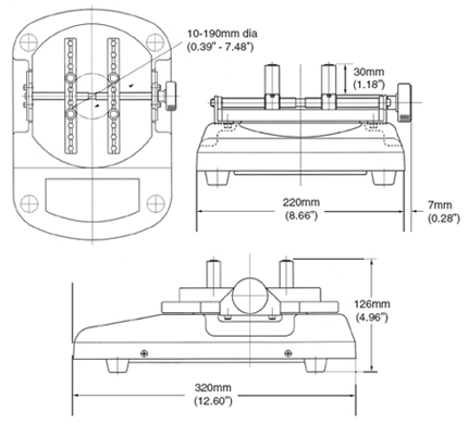 Cap Torque Tester dimensions