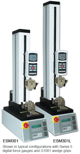 ESM301 and ESM301L Motorized force test stands