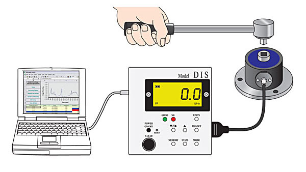DIS-IP Torque Tester can transfer data to PC
