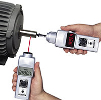 DT-205LR Tachometer measures via contact and non-contact