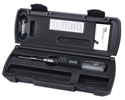 The TSD Digital Torque Screwdriver is supplied in a hard plastic carrying case
