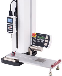 G1086 COF fixture is shown mounted to an ESM303 motorized test stand with M5-2-COF gauge.