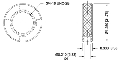 G1079 Lock Ring Dimensional Drawing