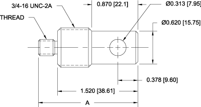 G1081 Eye End Adapters Dimensional Drawing