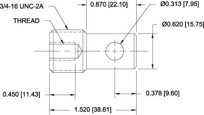 G1082 Eye End Adapters Dimensional Drawing