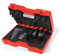 The LDT is supplied as a complete kit with 100mm probe, pin-point detection probe, headphones and calibration certificate in a fitted carrying case.