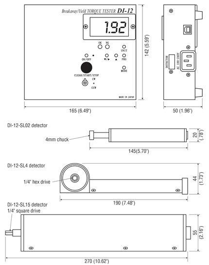DI-12-SL Dimensions