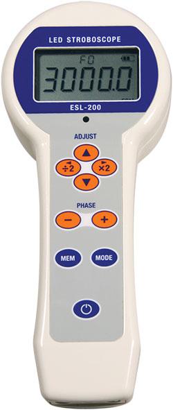 esl-200-LED Stroboscope menu