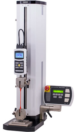 The ESM303 is a highly configurable single-column force tester for tension and compression measurement  applications up to 300 lbF (1.5 kN), with a rugged design suitable for laboratory and production environments.