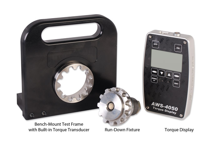 Impact Torque Test System with run-down-fixture and display