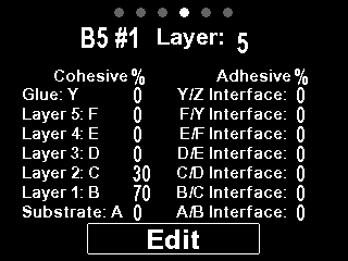 70% cohesive failure within layer 1; 30% cohesive within layer 2 Display