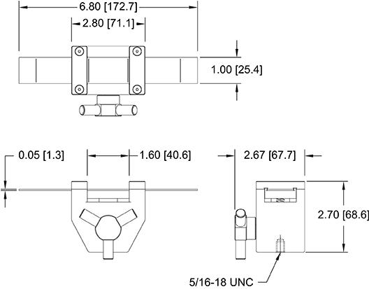 ASTM D6195 Loop Tack Fixture Dimensions