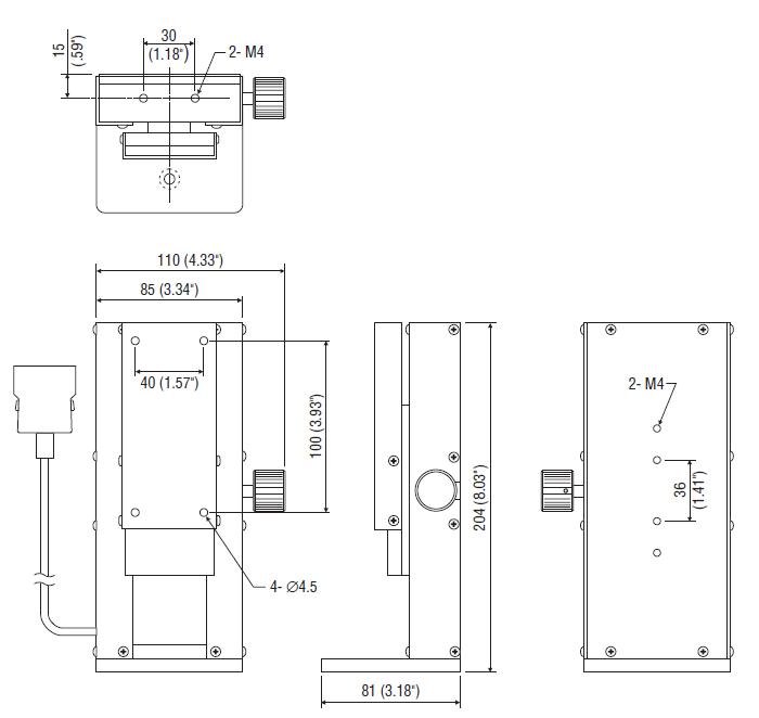 FSA-MSL mini material tester dimensions