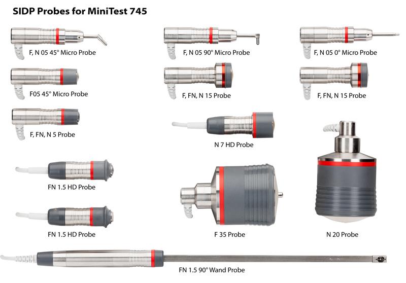 MiniTest 745 Coating Thickness Gauge Sensors