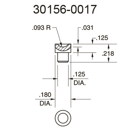 30156-0017 Cupped Surface Pressure Fitting