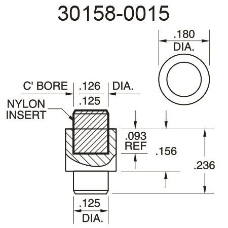 30158-0015 Nylon Insert Pressure Fitting