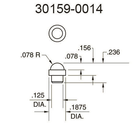30159-0014 Domed Surface Pressure Fitting