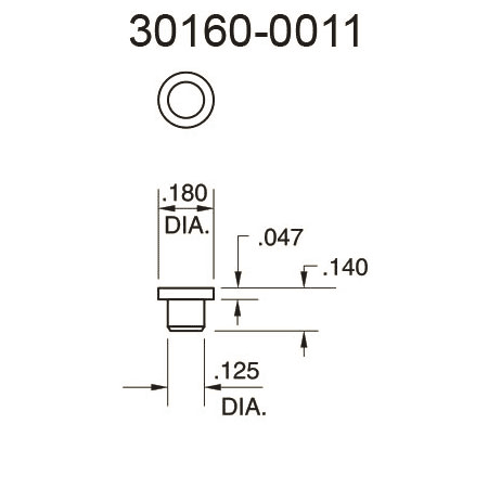 30160-0011 Flat Surface Pressure Fitting