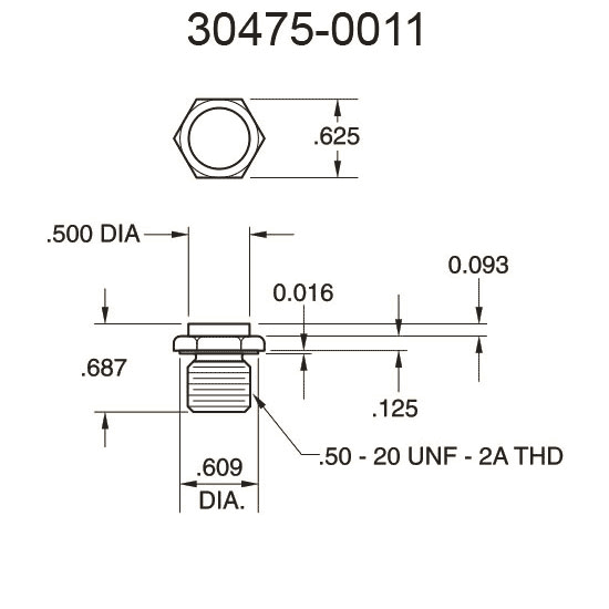 30475-0011 Flat Surface Pressure Fitting