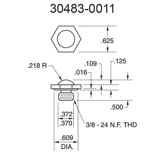 30483-0011 Domed Surface Pressure Fitting
