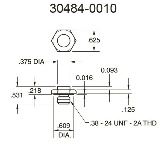 30484-0010 Flat Surface Pressure Fitting