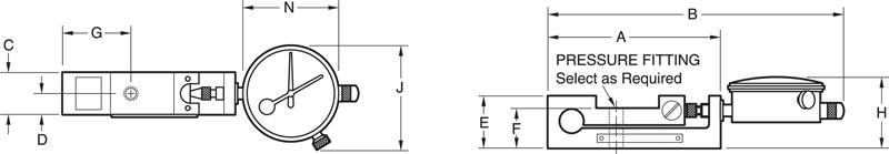 U-Force High Range Dimensional Drawing