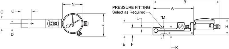 U-Force Low Range Dimensional Drawing