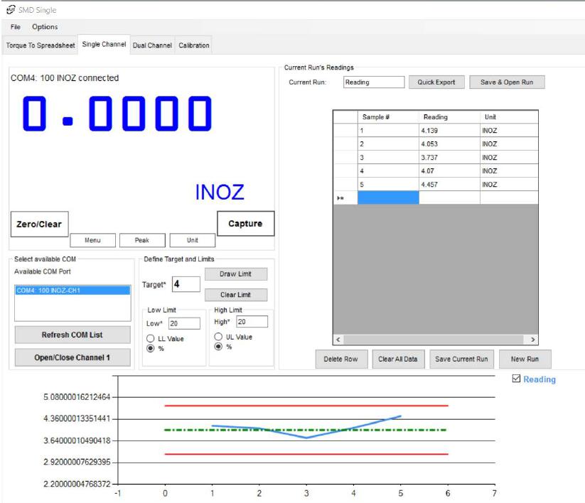 SMD-SC Torque Tester Software