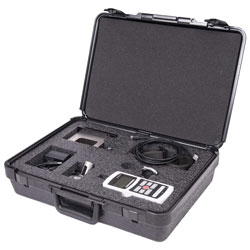 Cushioned carrying case accommodates the force gauge and all accessories.