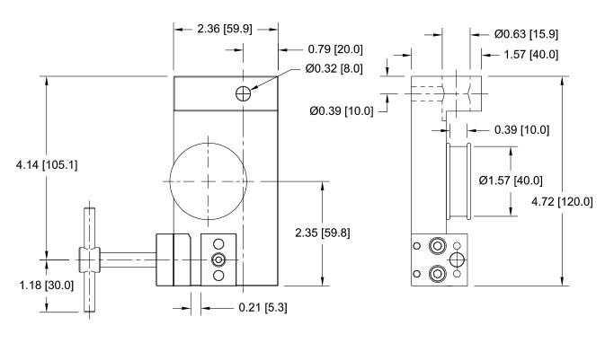 G1102 Wire / Rope Grip Dimensional Drawing