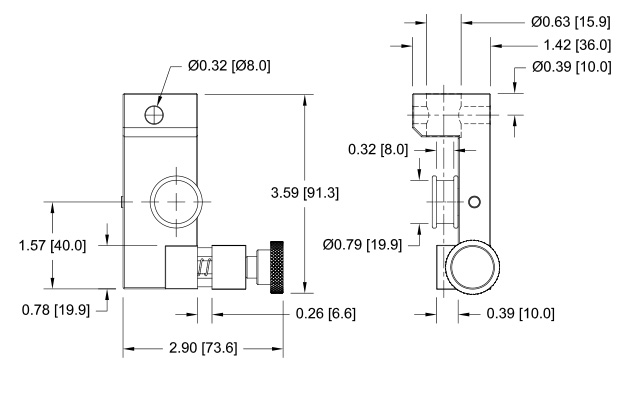 G1103 Wire / Rope Grip Dimensional Drawing