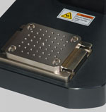 Optional AC1055 mounting plate features a matrix of #10-32 holes and 1/2-20 center hole